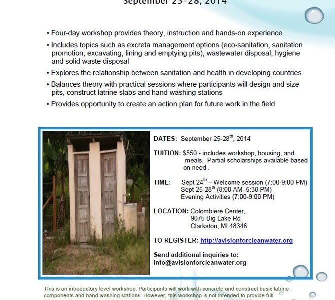 Sanitation Workshop 2014 Flyer