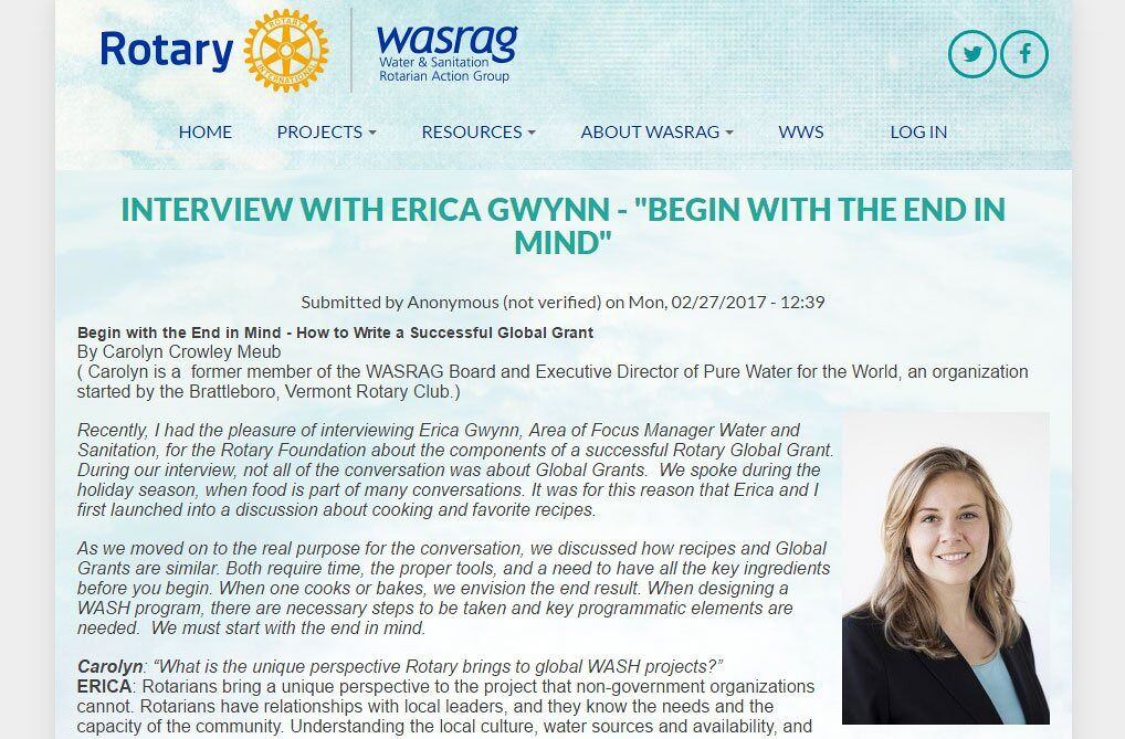 Erica Gwynn WASRAG Interview