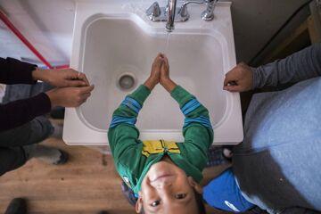Navajo Hand Washing Station