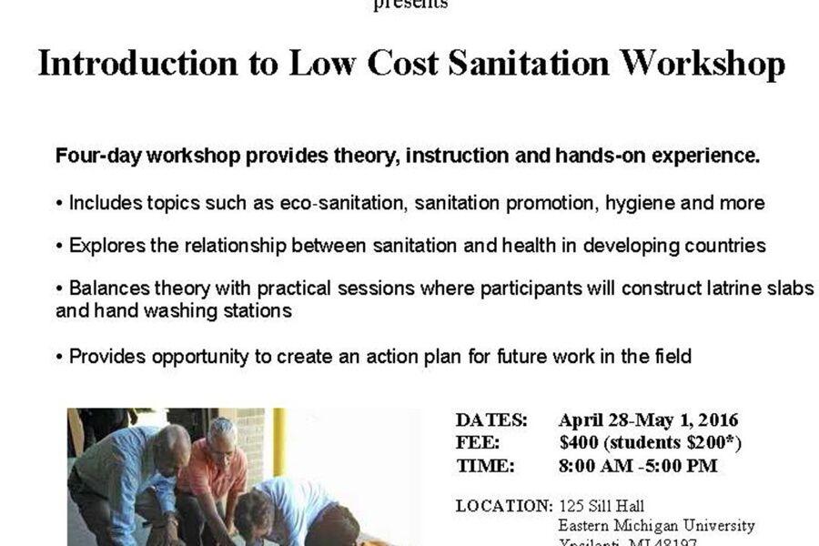 2016 Sanitation Workshop Flyer